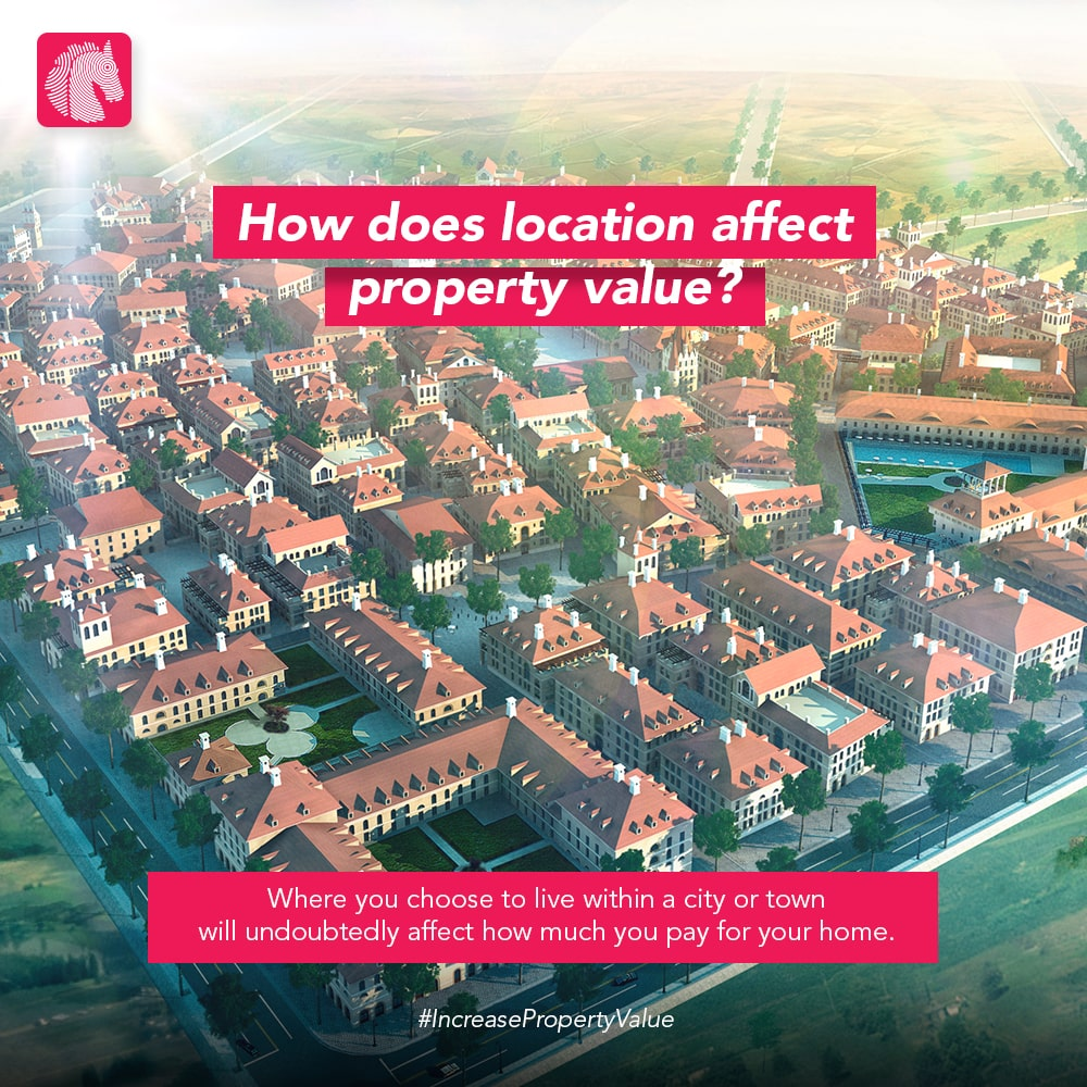 how does location effects property value