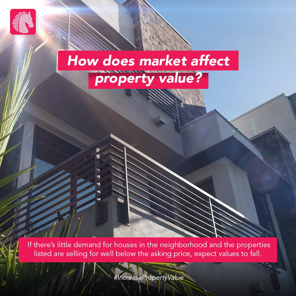 how does market effect property value