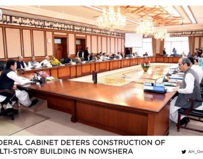 Federal cabinet deters construction of multi-story building in Nowshera
