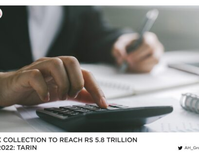 Tax collection to reach Rs5.8 trillion in 2022: Tarin