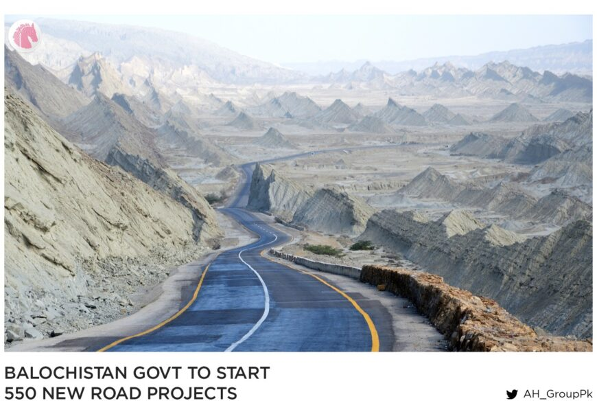 Balochistan govt to start 550 new road projects