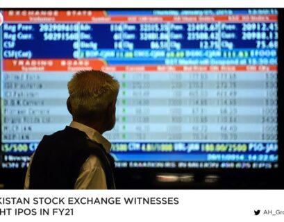 Pakistan Stock Exchange witnesses eight IPOs in FY21