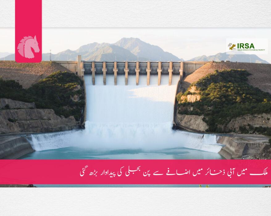 water reservoir increased in dams, says IRSA