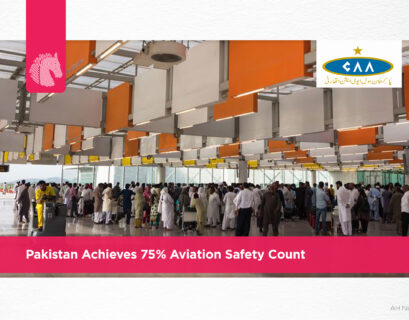 Pakistan achieves 75% aviation safety count