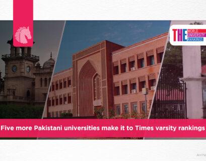 Five more Pakistani universities make it to Times varsity rankings